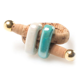 Cork Ceramic Bead Ring | HowCork - The Cork Marketplace