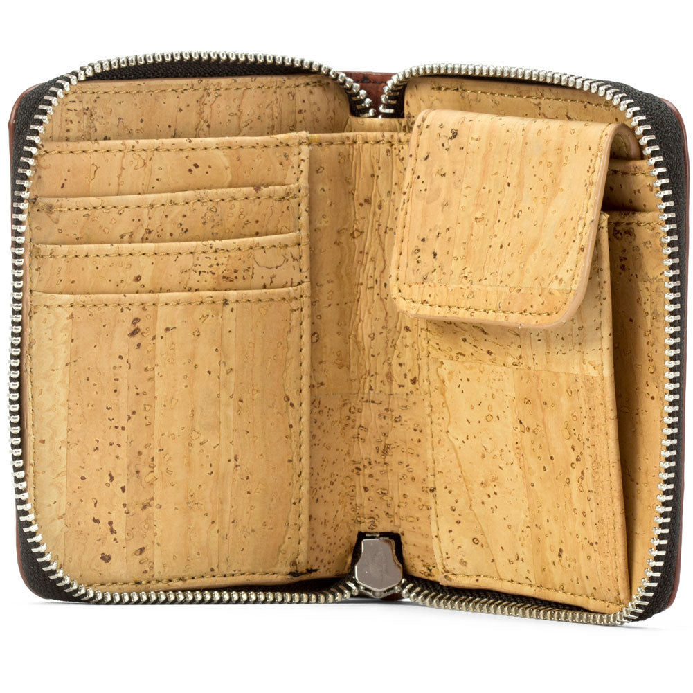 Women's Small Cork Zipper Wallet - HowCork