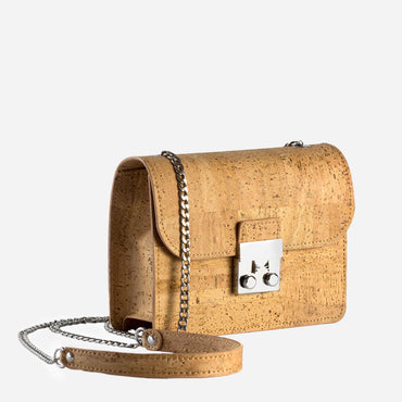 Mini Cork Cross-Body Bag with Chain