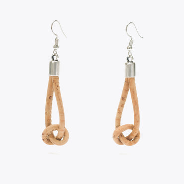 Cork Earrings with Knot
