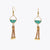Cork Green Water Half Circle Earrings