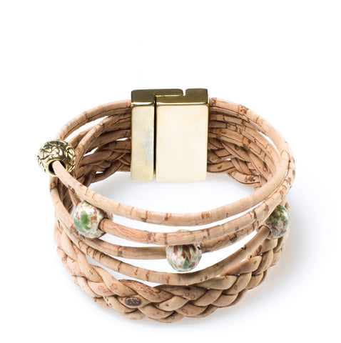 Natural Braided Cork Bracelet