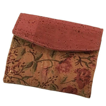Art For The Cure Cork Floral Mini Wallet | HowCork - The Cork Marketplace