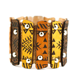Cork Tribal Prints Cuff