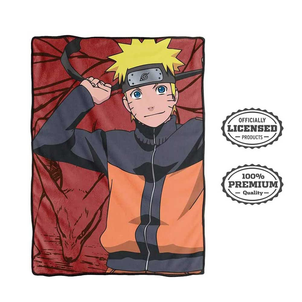 Naruto Shippuden Bed Blanket [RED, 45 x 60 inches] - Stunned Mind