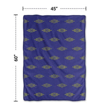 "Fallout Fleece Vault-Tec Blanket [Purple/Gold 46""x60""] Travel Throw, Plush Blanket"
