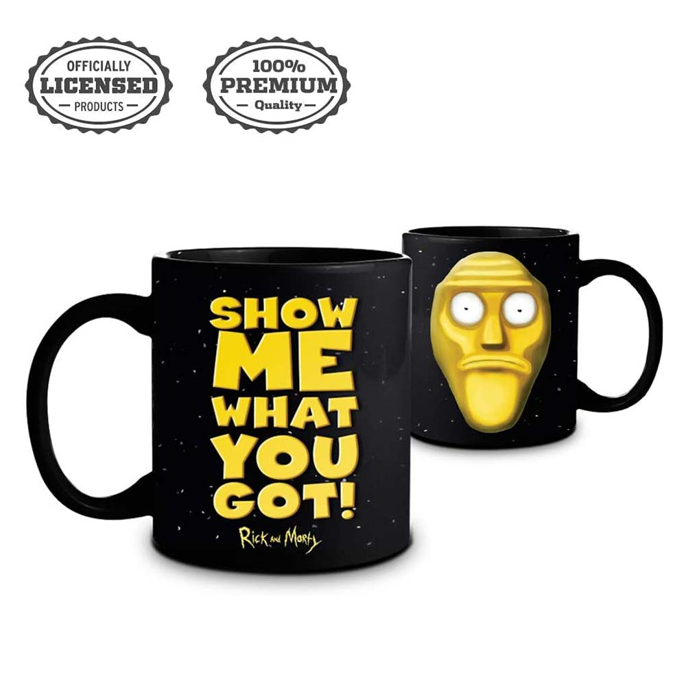 Rick and Morty Sanchez Coffee Mug - BLACK YELLOW MOLDED - Stunned Mind Coffee Mug