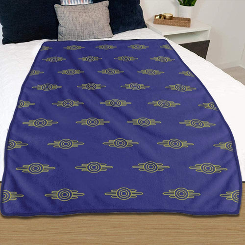 Fallout Fleece Vault-Tec Blanket [Purple/Gold 46