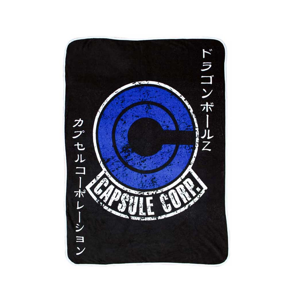 "Capsule Corp Blanket from Dragon Ball [ 46""x60""] - Stunned Mind"