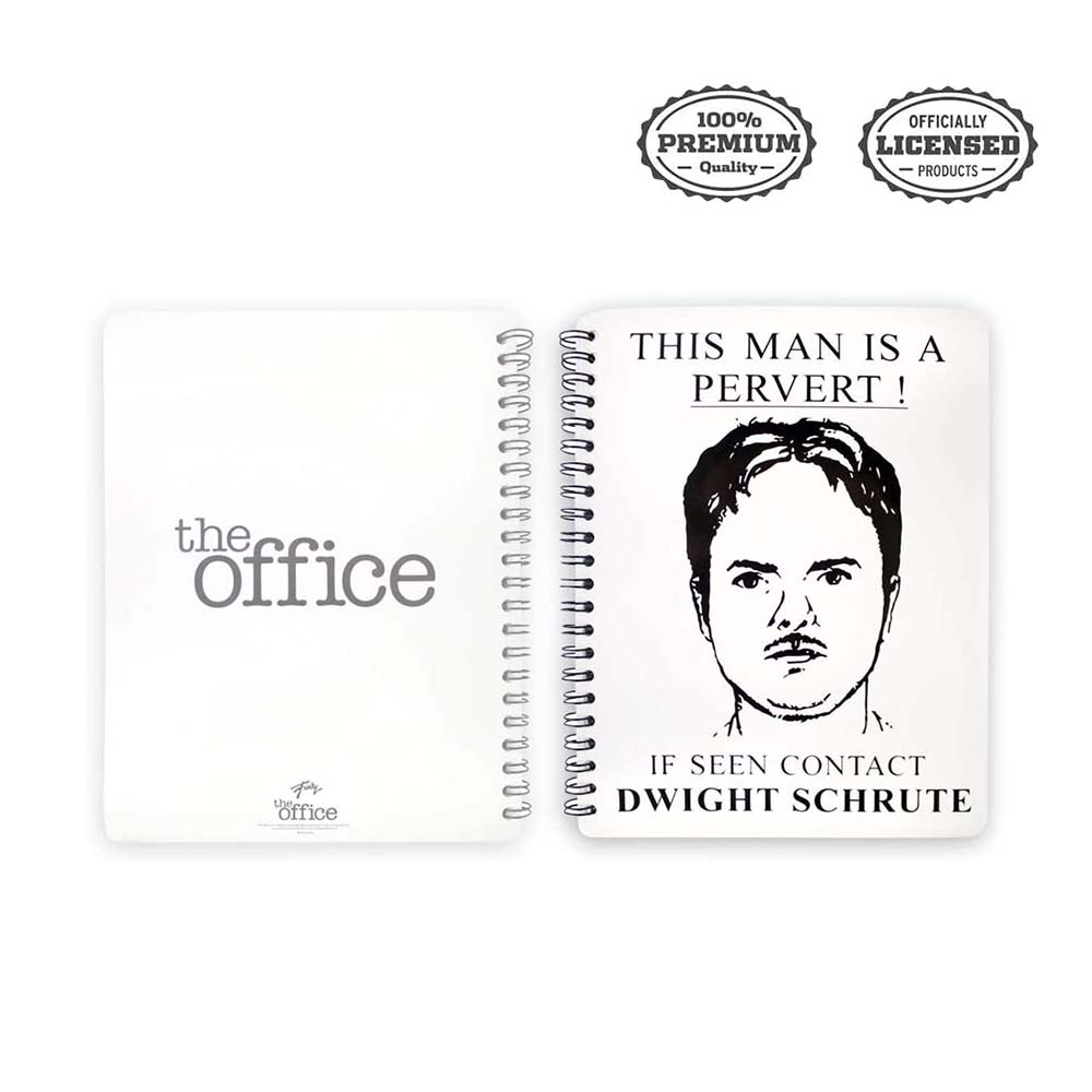 The Office DWIGHT SCHRUTE Spiral Notebook/Journal - Stunned Mind Stationery