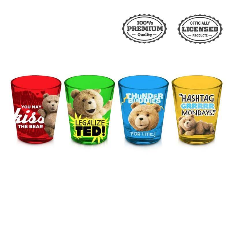 Tedi Shot glasses set of four - Stunned Mind