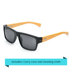 Stylish Sunglasses with Bamboo Temple and UV400 Protection - Free Shipping Of Course