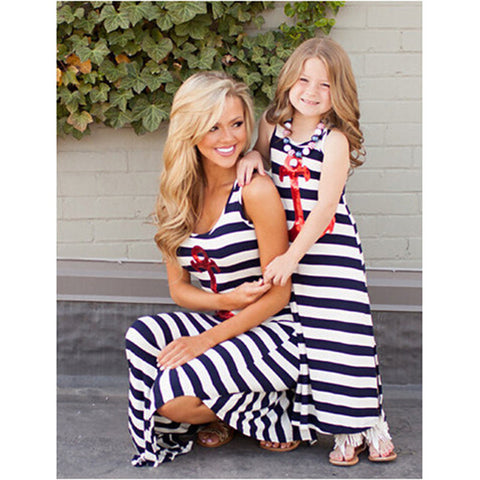 Mother Daughter Anchor Matching Dresses