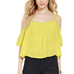 Off the Shoulder Short Sleeve Blouse