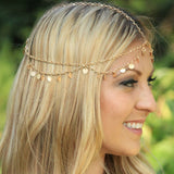 Boho Gold Chain Headpiece
