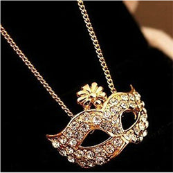 Hot SelIing Fashion Vintage Exquisite Fox Masks Pendants Necklace