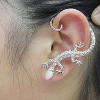 1PC Crystal Rhinestone Gecko Ear Cuff Earring