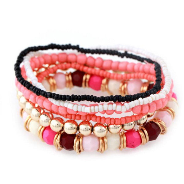 Bohemia Handmade Beaded Multi-layer Charm Bracelets