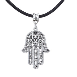 Good Luck Protection Hamsa Symbol Pendant Necklace