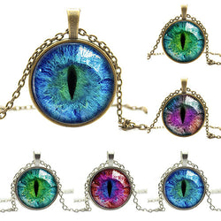 Cat Eye Glass Pendant Necklace