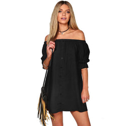 Off The Shoulder Casual Mini Dress