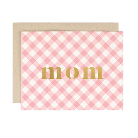 Mom Gingham Check