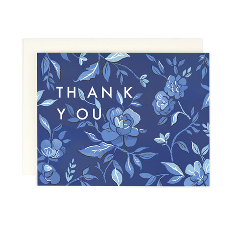 Indigo Floral Thank You