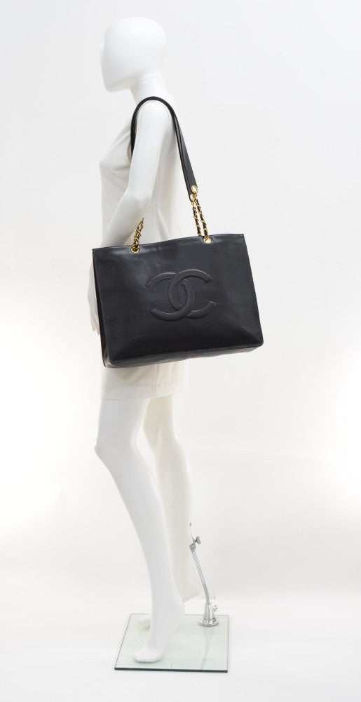 Grained Lambskin Leather XL Tote Bag