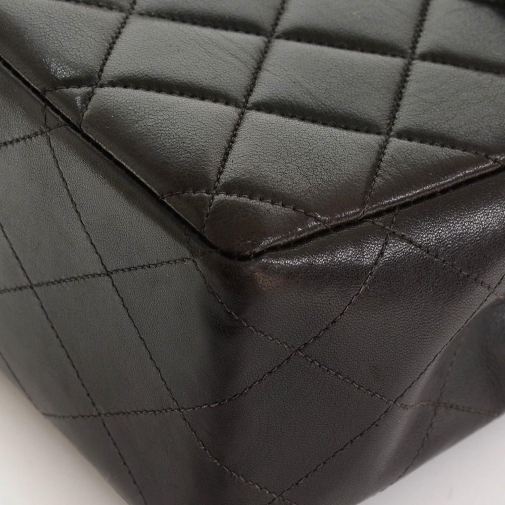"12"" Jumbo Quilted Lambskin Leather Shoulder Bag"
