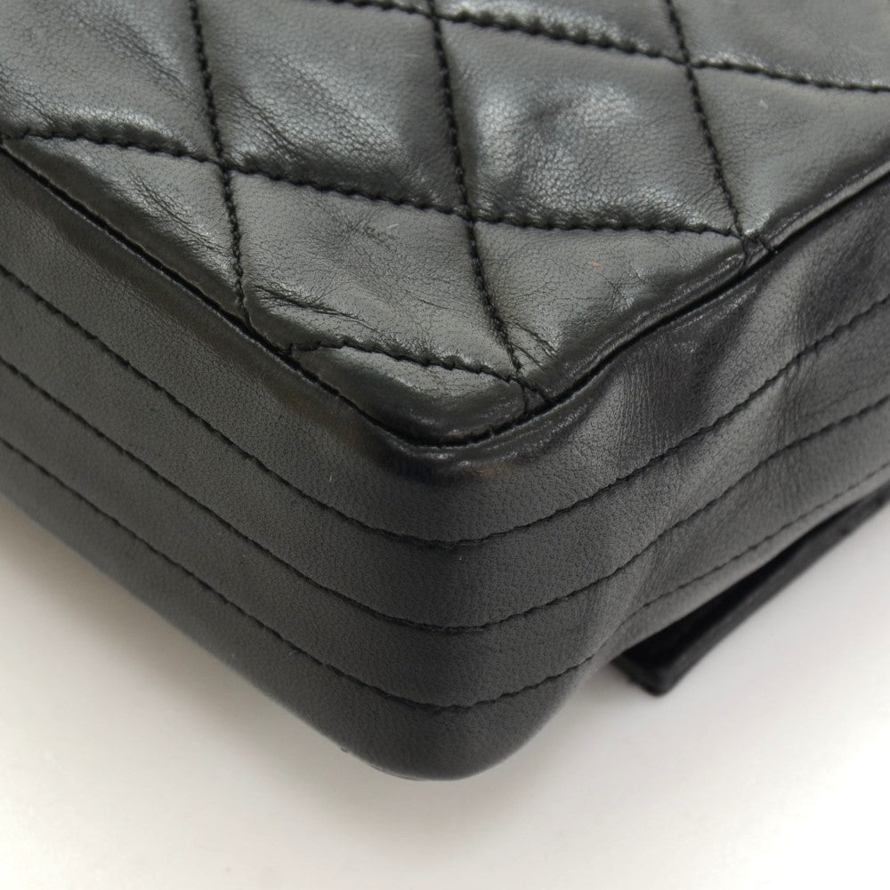 Quilted Leather Single Flap Handbag