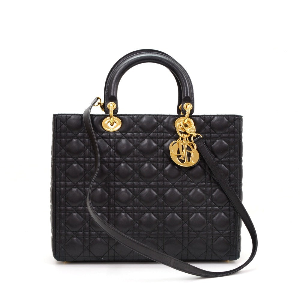 Lady Dior Cannage Quilt Leather Medium Bag
