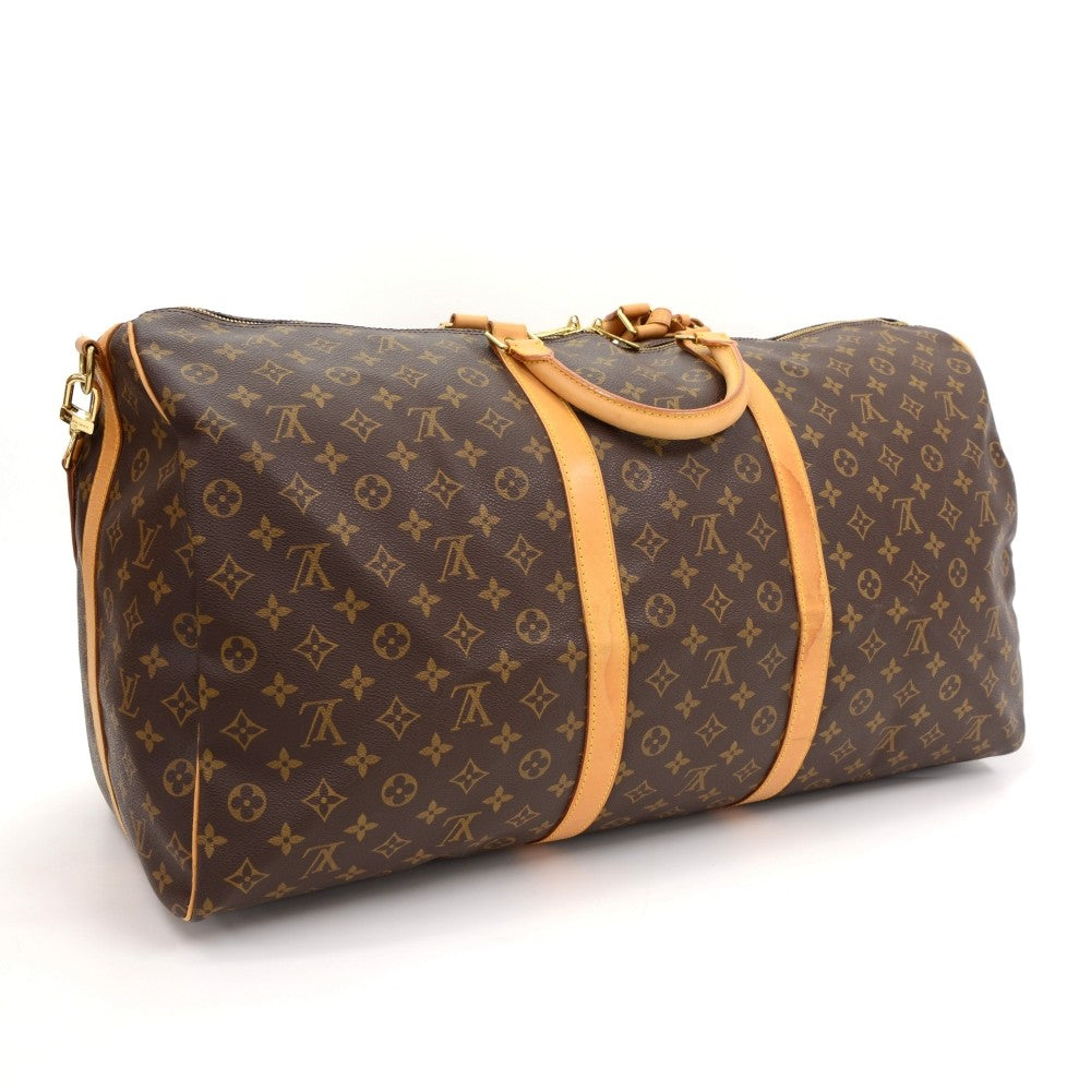 Keepall 60 Bandouliere Monogram Canvas Travel Bag