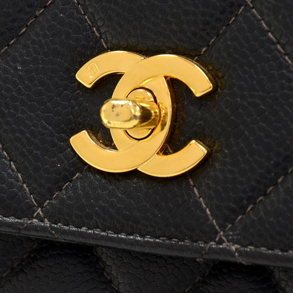 Caviar Leather Tote Bag
