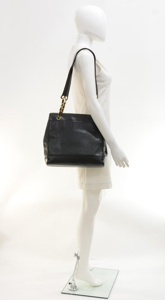 "12"" Caviar Shoulder Bag"