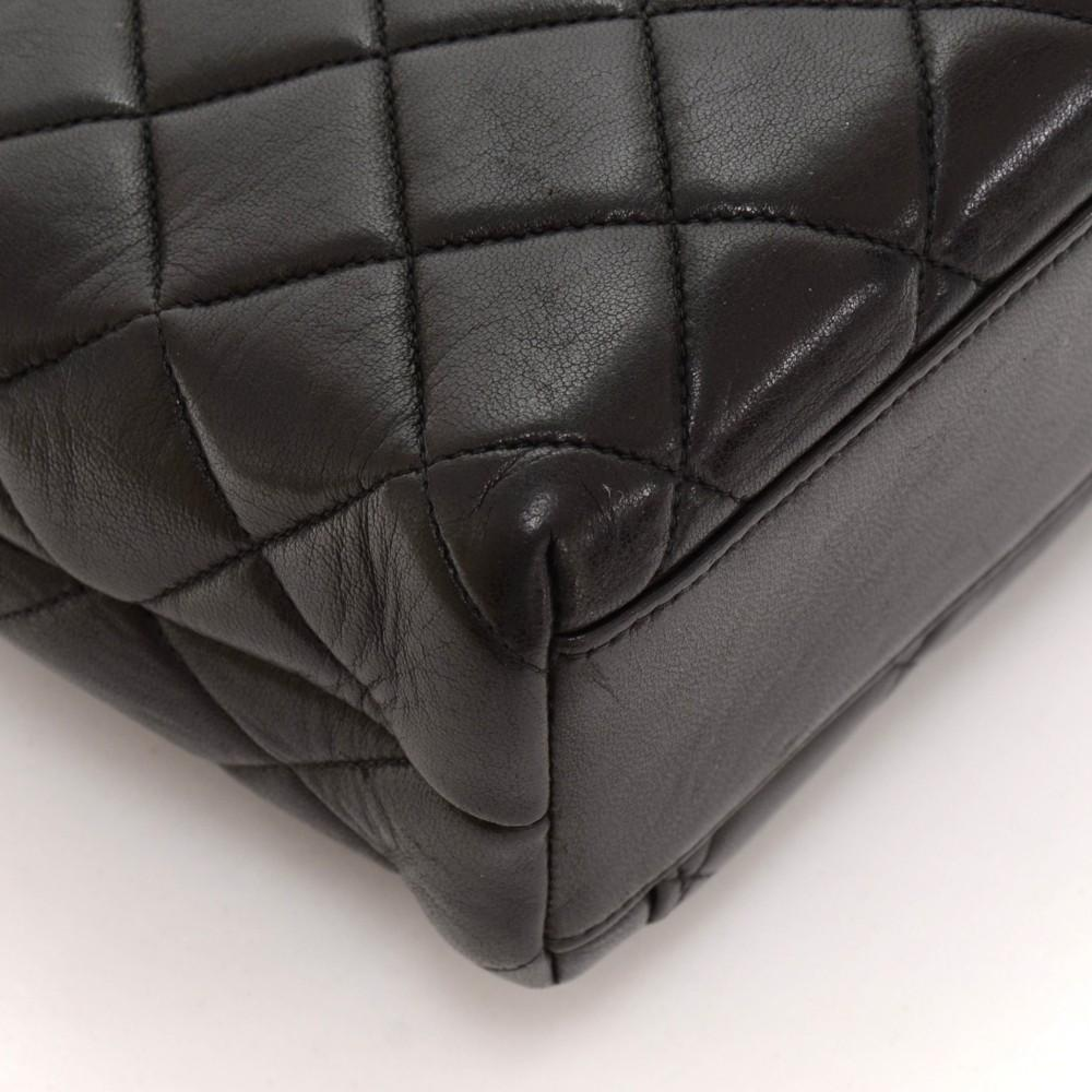 Quilted Lambskin Leather Tote Bag