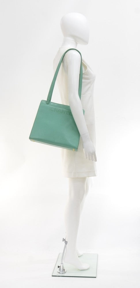 Medium Caviar Leather Tote Bag