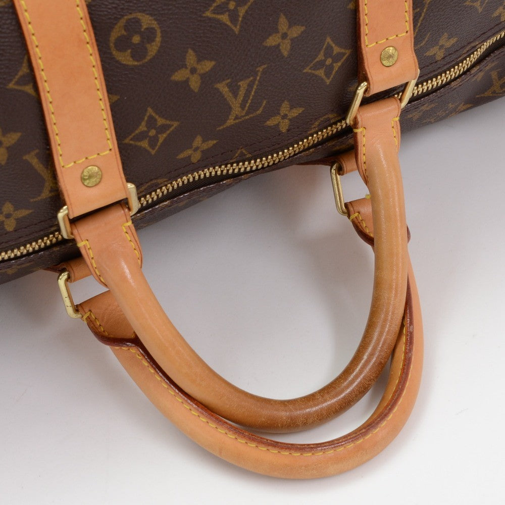 Monogram Canvas Keepall 55 Bandouliere Duffel Bag with Strap