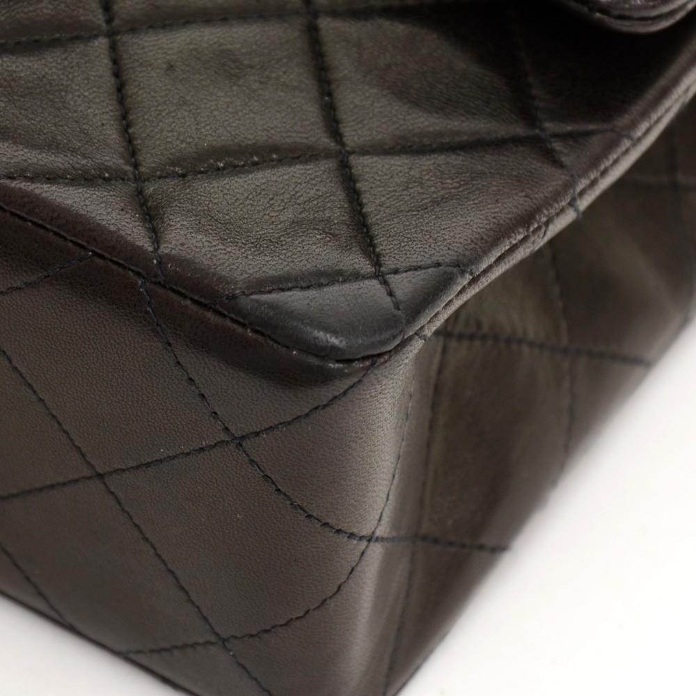 "7"" Quilted Leather Shoulder Bag"