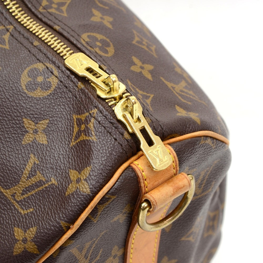 Monogram Canvas Keepall 45 Bandouliere Duffle Bag with Strap