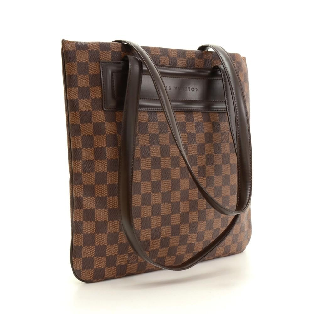 Clifton Damier Ebène Canvas Tote
