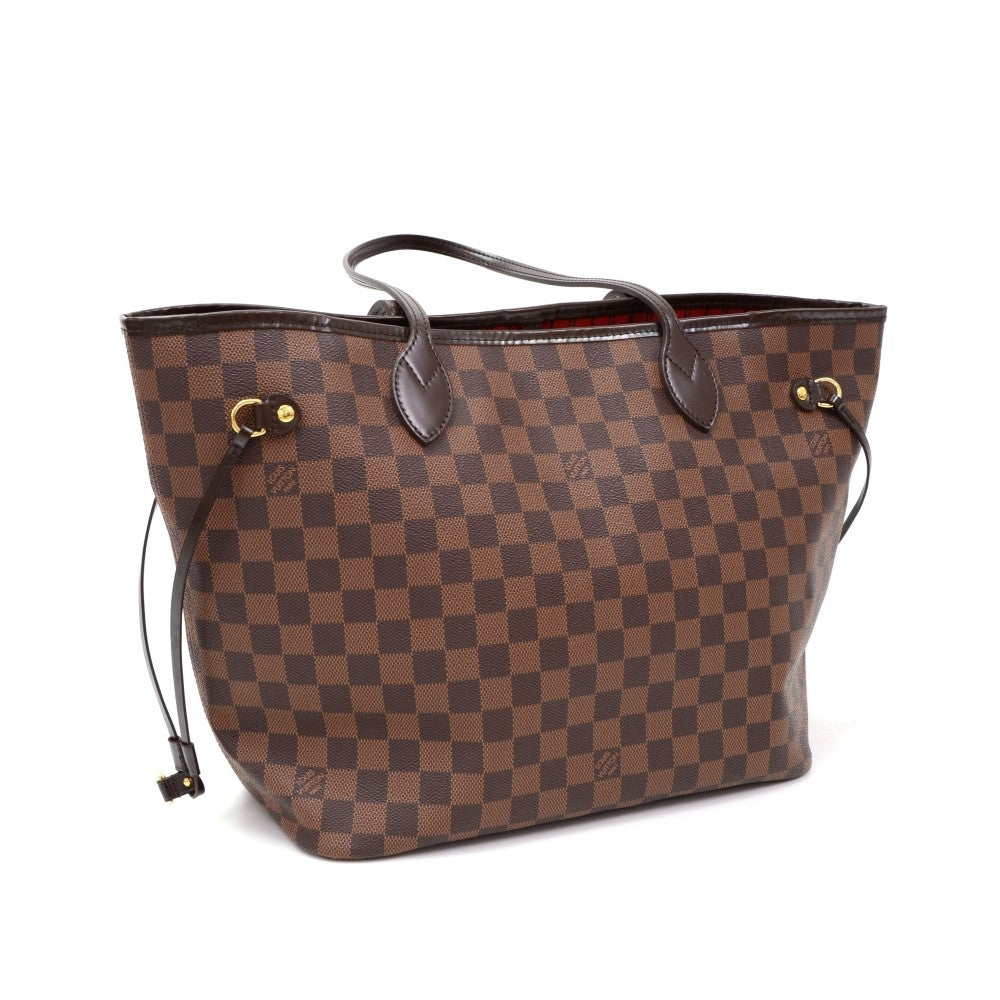 Damier Ebene Canvas Neverfull MM Tote
