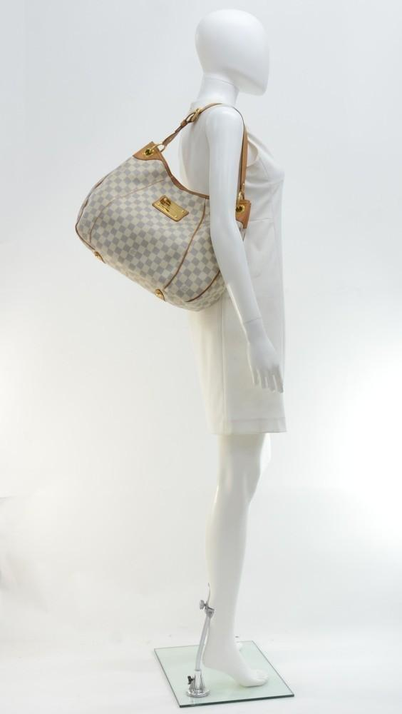Galliera PM Damier Azur Canvas Shoulder Bag