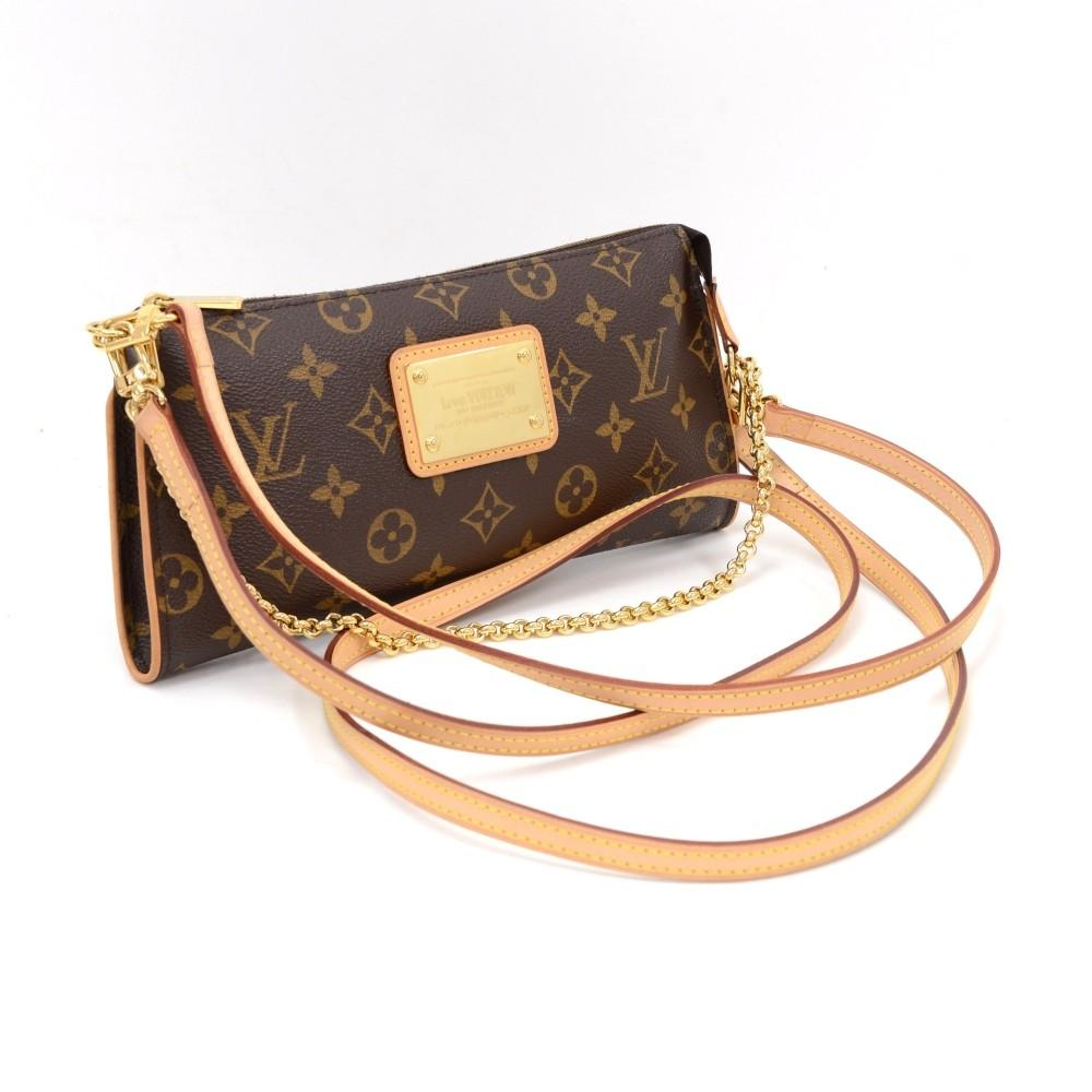 Eva Monogram Canvas Shoulder Bag
