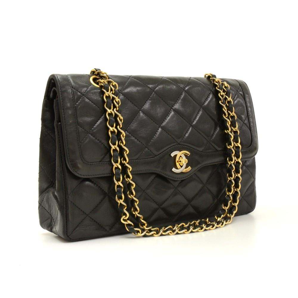 Paris Limited Edition Double Flap Quilted Leather Shoulder Bag
