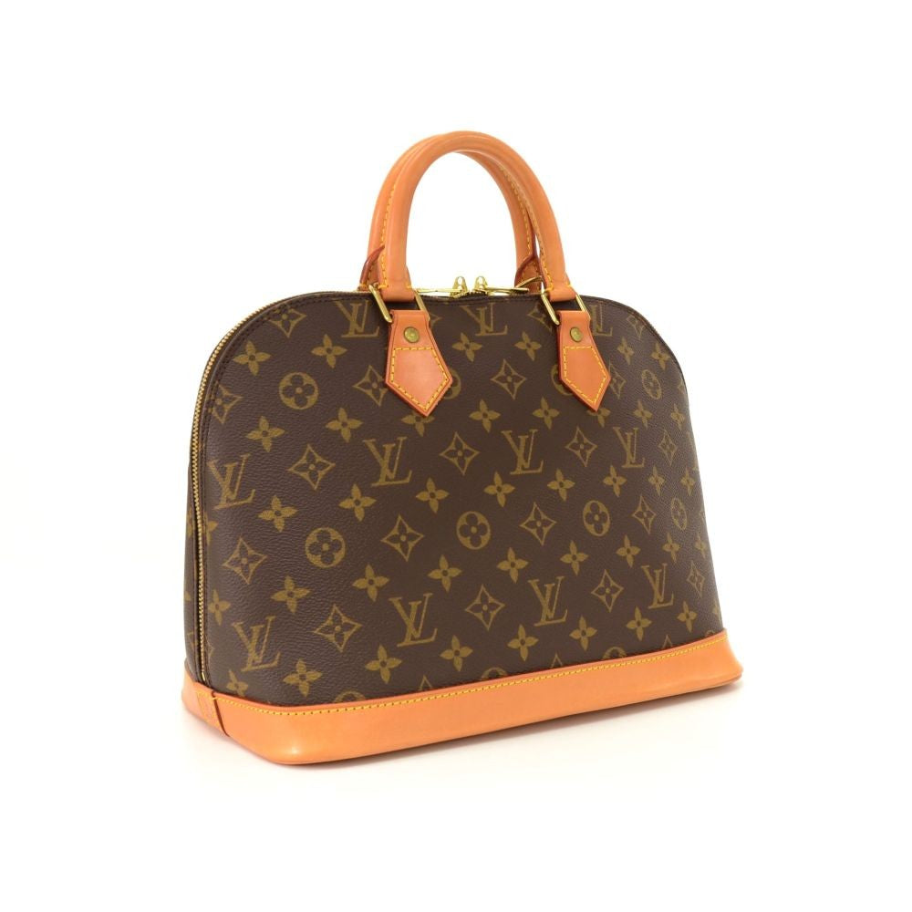 Alma Monogram Canvas Handbag