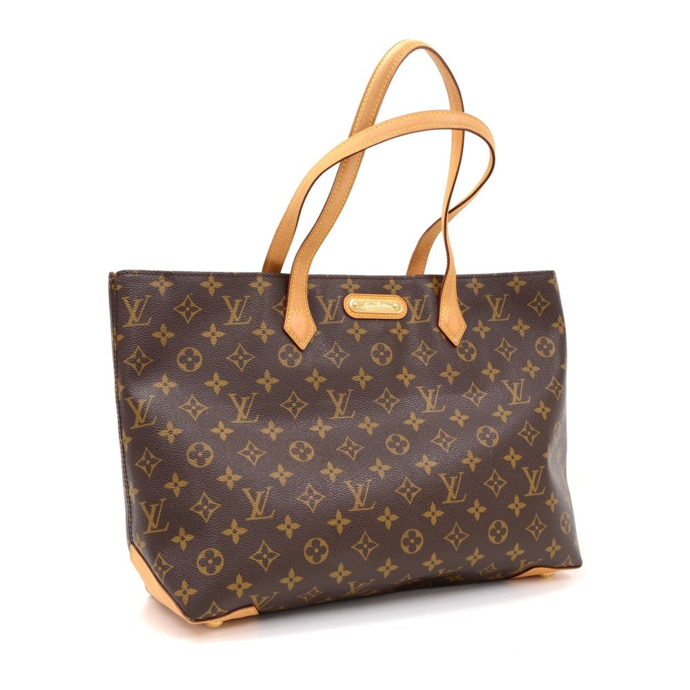Wilshire MM Monogram Canvas Handbag