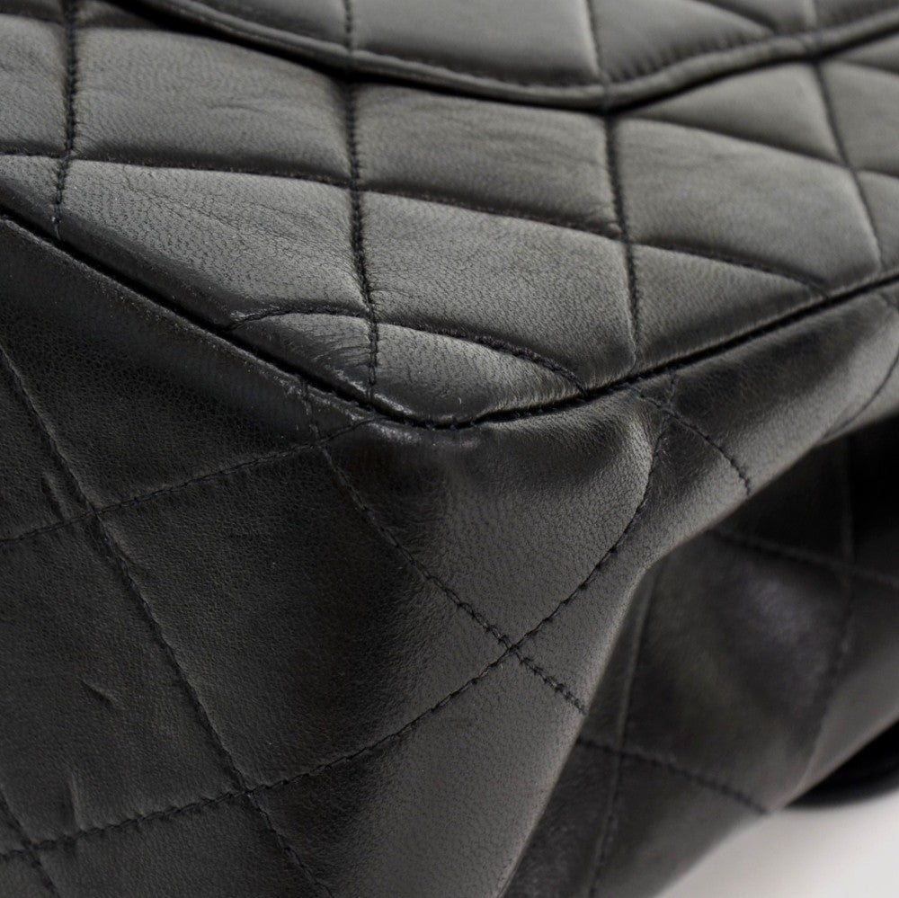 Quilted Lambskin Leather Jumbo Shoulder Bag
