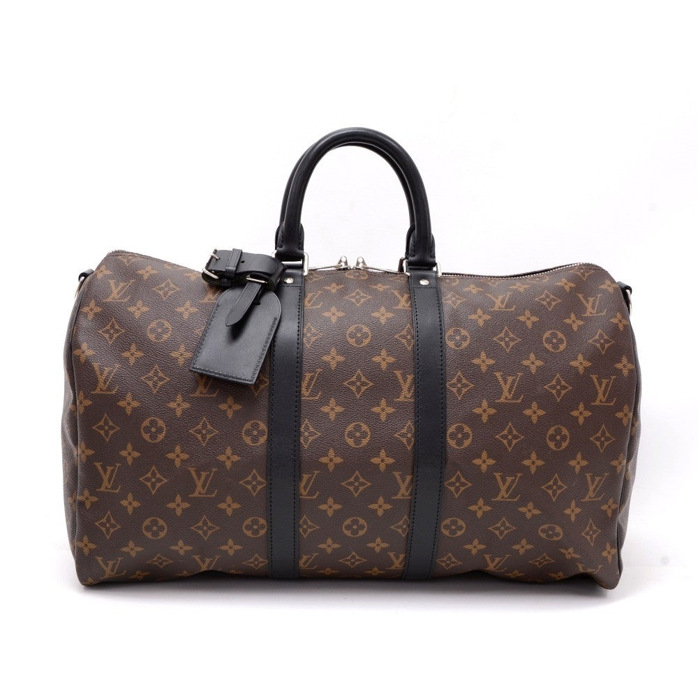 Keepall 45 Bandouliere Monogram Macassar Canvas Travel Bag