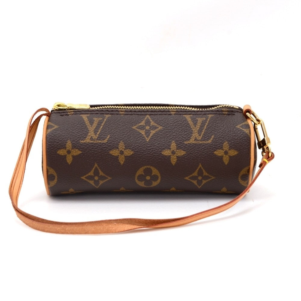 Papillon 30 Monogram Canvas Handbag with Pouch
