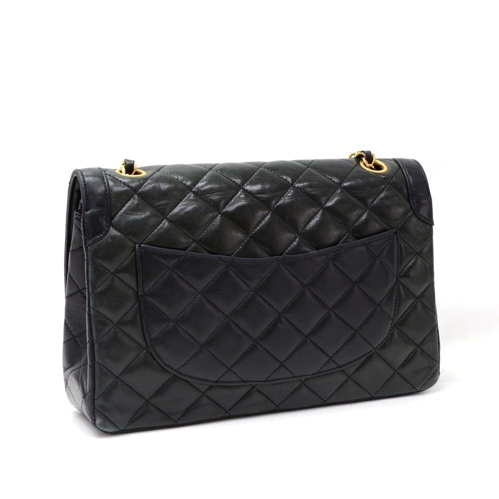 "2.55 10"" Double Flap Quilted Lambskin Leather Shoulder Bag - Paris Limited Edition"